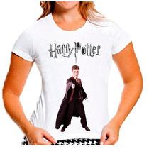 T-shirt Baby Look Harry Potter Feminina