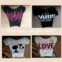Blusa Top Cropped Croche Verão