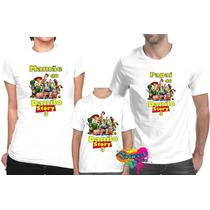 Camiseta - Camisa Personalizada Toy Story A3/ 3pçs