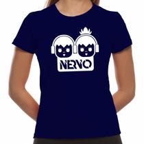 Camiseta Nervo - Dj Edm - Baby Look - Blusa Visco Pura