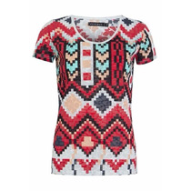 Blusa Fiveblu Tribus Multicolorida Original