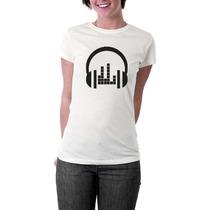 Camiseta Fone Dj - Deejay - Masculino E Feminino