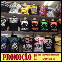 Kit C/ 10 Camisas Jiu Jitsu - Venum, Pretorian, Ufc, Mma