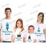 Camiseta Natal Ano Novo Papai Noel Personalizada Kit Com 4