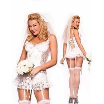 Fantasia Feminina Sexy Sensual Noiva Casamento Frete Grátis!