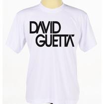 Camisa Camiseta Estampada Cantor David Guetta Manga Curta