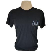Camisa Armani Exchange G / L 100% Algodão Original Preta A x