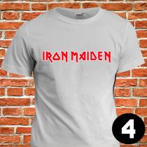 Camiseta Banda De Rock Iron Maiden Camisa Blusa Baby Look