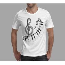 Camiseta Musica Instrumento Musica Teclado Frete Grátis