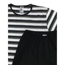 Pijama Meia Manga Unissex Plus Size Gg G1 G2 G3 G4 Xg Xxg Bs