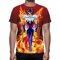 Camisa, Camiseta Cavaleiros Do Zodíaco Ikki De Fênix Mod 03