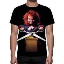 Camisa, Camiseta Chucky O Boneco Assassino Mod 02