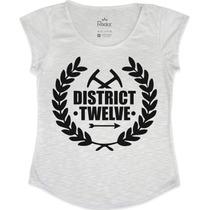 Blusa-t Shirt-feminina Jogos Vorazes - Distrito 12