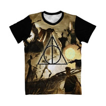 Camiseta Harry Potter , Camisa Reliquias Da Morte