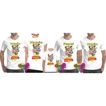 Kit 5 Pçs Camisa Personalizada Qualquer Tema Para Festa A3