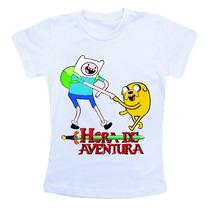 Camiseta Infantil / Criança Desenho Hora Da Aventura