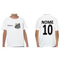 Camiseta Personalizada Santos Futebol Clube Infantil Kappa