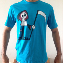 Camisa Blusa Masculina T-shirt Caveira De Billy E Mandy!