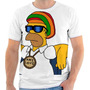 Camiseta Home Simpsons Reggae Personalizada Sublimação