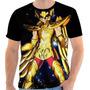 Camiseta - Camisa Cavaleiros Do Zodíaco Seya Pegasus Ouro