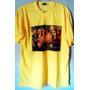 Camiseta Amarelo Rebelde Rbd Frente E Costas Tradicional