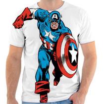 Camiseta Camisa Capitão América Marvel, Masculina E Feminina