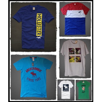 Kit 5 Camisetas Hollister E Abercrombie 100% Originais