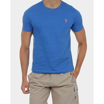 Camiseta Slim Fit Aleatory Básica Azul Royal Estilo Luxo