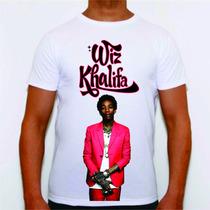 Camisa Camiseta Personalizada Cantor Musico Wizkhalifa Plt