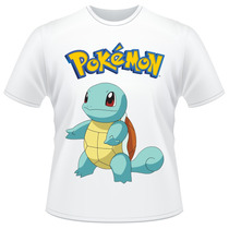 Camiseta Pokemon Squirtle Anime Desenho Camisa
