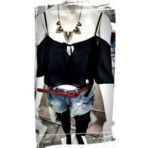 Top Babado Regata Cropped Morcego Cigana Blusa Cropped Linda