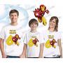 Lembrança De Aniversario Homem De Ferro Camiseta Kit Com 3