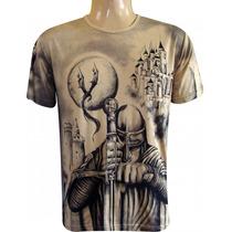 Camiseta São Jorge Guerreiro Templário Ogum Salve Jorge Pmg