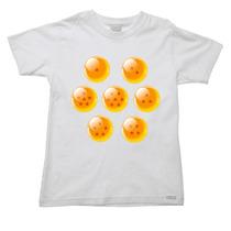 Camiseta Infantil Dragon Ball Bal Goku Esfera Bulma 03