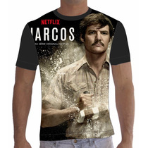 Camisa Camiseta Série Narcos Netflix Javier Peña
