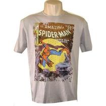 Camiseta Herois Homem Aranha X Men Super Homem Super Man