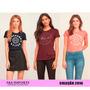 Camisetas Blusas Femininas Hollister Abercrombie Aeropostale
