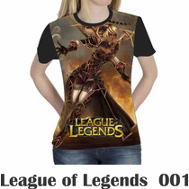 Camiseta Blusa Games League Of Legends Feminina Lol 001
