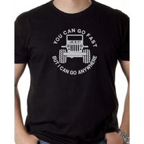 Camiseta Jeep Carro Automotivo Masculina Feminina Preta