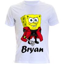 Camiseta Personalizada Infantil Do Bob Esponja Com Nome