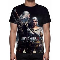 Camisa, Camiseta Game The Witcher 3 - Geralt E Ciri