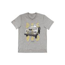 Camiseta Masculina Carro Antigo Gola V - Hering