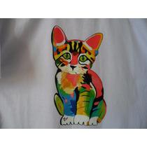 Camiseta Ref. 459, 100%algodão, Pintada À Mão.
