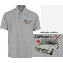 Camisa Polo Bordada Mopar Dodge Charger R/t