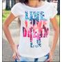09 Camisetas Baby Look Feminina Estampas Variadas Promoção..