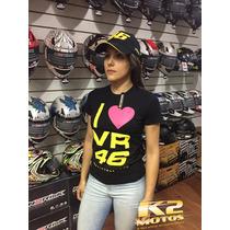 Camisa,baby Look Feminina,moto, Love,valentino Rossi, Vr-46