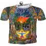 Camiseta Ou Baby Look Selva Luz Psicodélicas