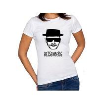 Camiseta Feminina Baby Look Heisenberg 100% Algodão