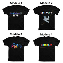 Camiseta Algodão Masculina Feminina Banda De Rock Coldplay