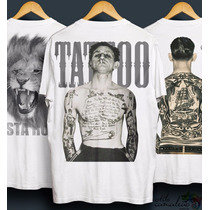 4 Camisetas Camisa Estampa 3d Digital - Rasta - Rock - Tatto